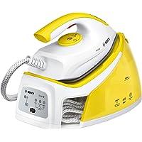 Bosch TDS2120Serie 2 - Centro de Planchado con Autonomía Ilimitada (240 g de Supervapor, funciones Itemp y ECO, 2400 W, 1.5 L) blanco y amarillo