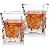 Cooko Iceberg Whiskey Glasses,Transparent Drinking Glasses,Wine accessaries for Whisky,Cocktail,Bourbon,Juice,300ML Set of 2 (10.6 oz)