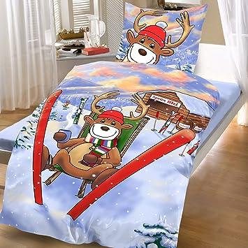 Bertels Textilhandels Gmbh Baumwoll Biber Bettwäsche 135x200 2 Tlg