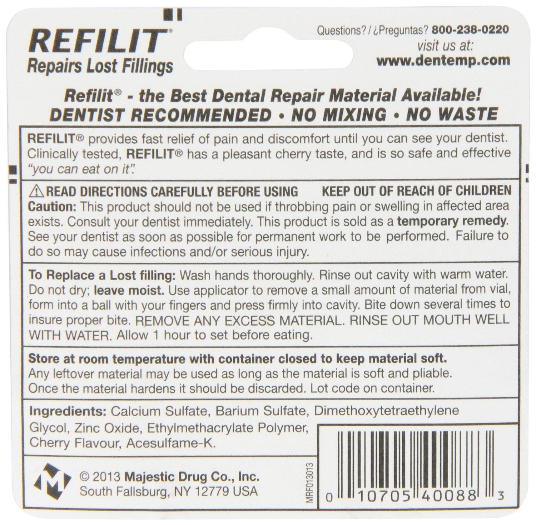 Refilit Lost Filling Repair, Cherry, (Pack of 6)