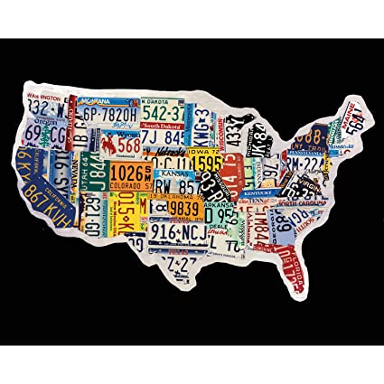 Portfolio Canvas Décor NCH1504 U0026quot;USA License Mapu0026quot; By Brady Barker  Canvas Print Wall