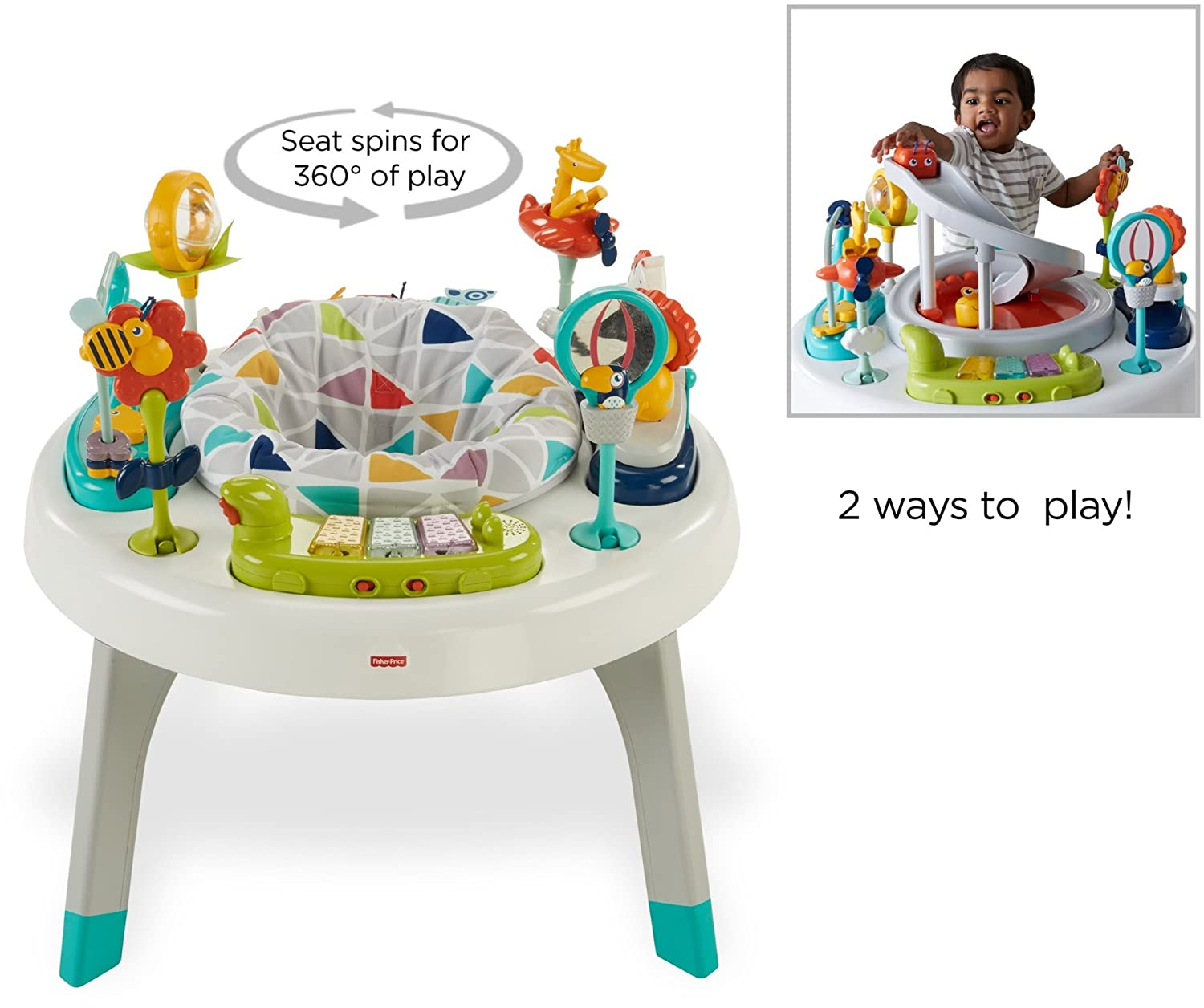 5ac74c0245b3 Amazon.com   Fisher-Price 2-in-1 Sit-to-Stand Activity Center