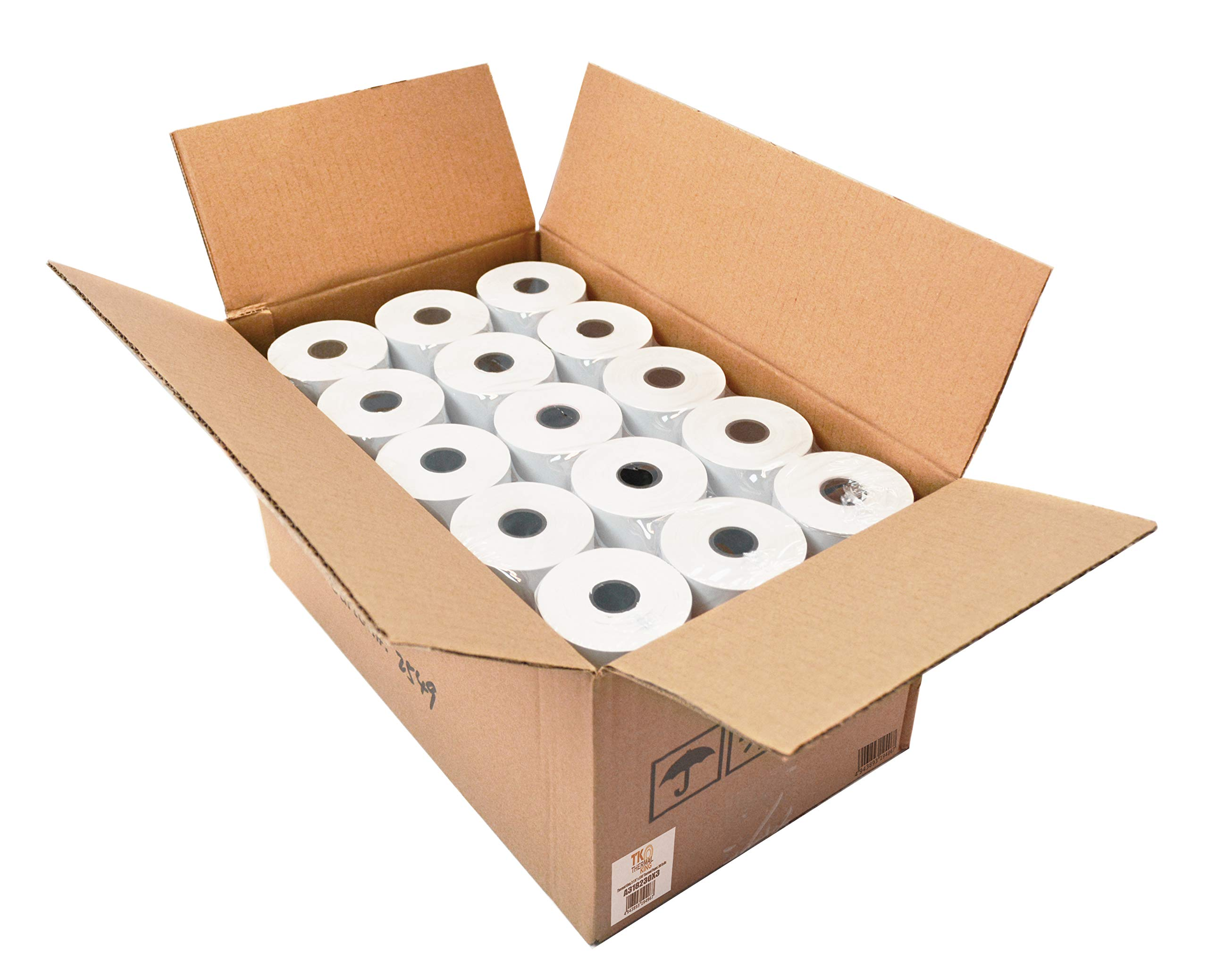 Thermal King, Thermal Credit Card Paper (3 1/8'' x 230' - 30 Rolls) [Thermal King Brand] by TK Thermal King