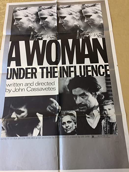 A Woman Under the Influence, original one sheet movie poster, Gena Rowlands, Peter Falk, 1971