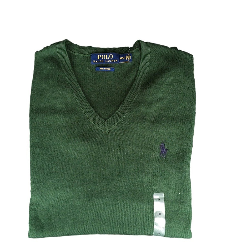 Polo Ralph Lauren Men's Pima Cotton V Neck Long Sleeve Sweater 12591