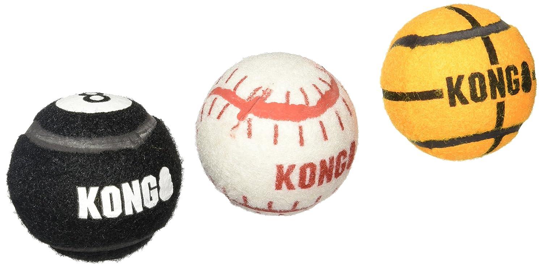 KONG 3-Pack Sport Balls Dog Toy, Medium, Assorted