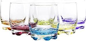 Vibrant Splash Water/Beverage Glasses, 9.75 Ounce (6)