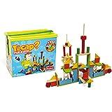 jeujura jouet en bois construction tecap multiform baril 100 pieces - Tecap Color