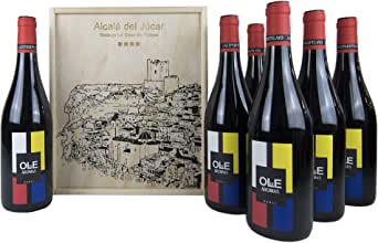 Estuche madera 6 botellas OLE DE AROMAS Vino tinto joven Bobal 75cl-Añada 2017 D.O.Manchuela: Amazon.es: Alimentación y bebidas