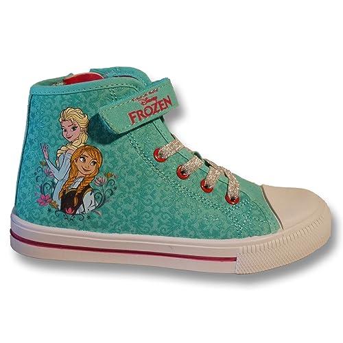 official photos c15be 50a38 Frozen Disney Elsa e Anna Bambina Sneakers Scarpe da ...