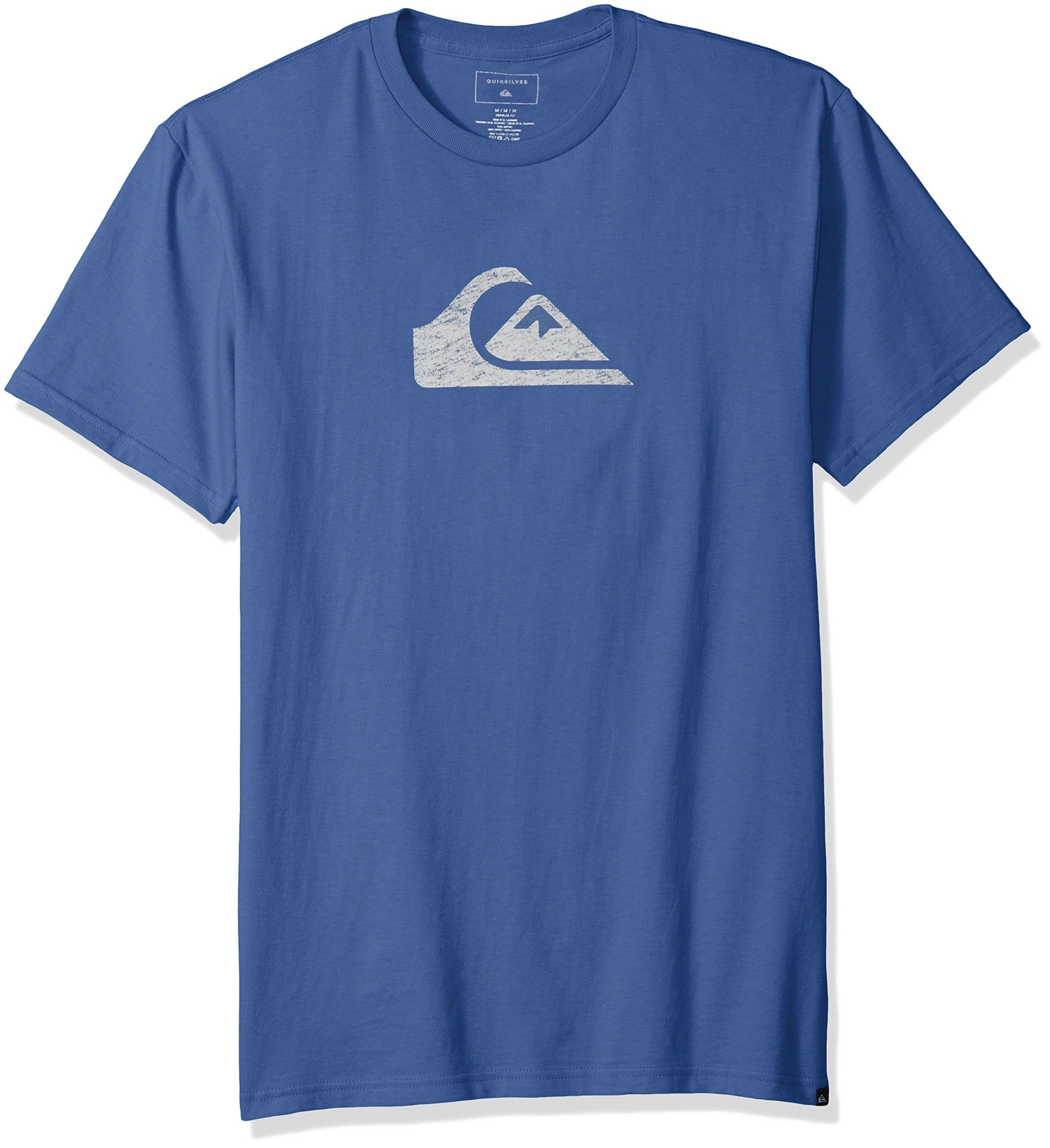 Quiksilver Men's Comp Logo Tee Shirt, Bijou Blue, XXL by Quiksilver (Image #1)