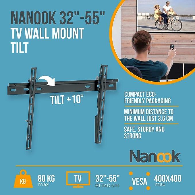 Nanook Tilt M, Soportes de Pared y Techo para TV, 32: Amazon.es: Electrónica