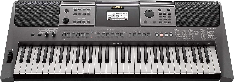 YAMAHA PSR-I500 - Teclado para casa (con acompañamiento automático, color gris oscuro metalizado)