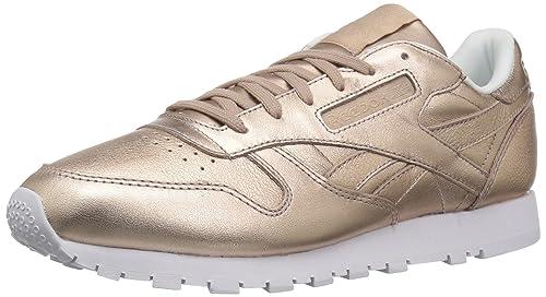 c0b8bef1b05ffc Reebok Classics Women s Leather Melted Metal Fashion Sneakers ...