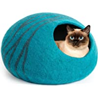 MEOWFIA Premium Felt Cat Cave (Large) - Eco-Friendly 100% Merino Wool Cat Bed - Handmade Indoor Cat House - Soft and…