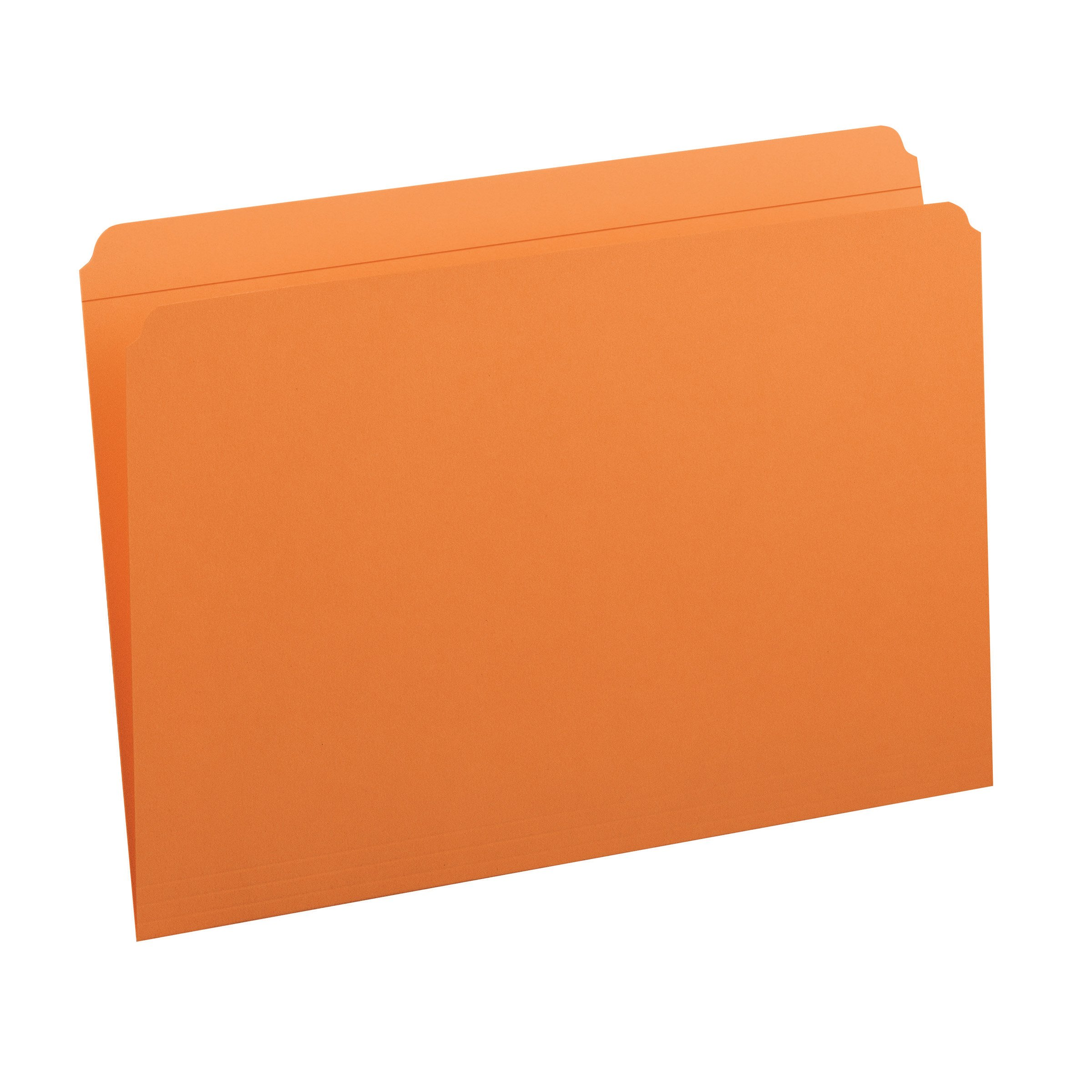 Smead File Folder, Reinforced Straight-Cut Tab, Legal Size, Orange, 100 per Box (17510) by Smead