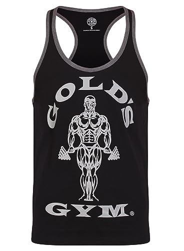 Golds Gym GGVST010 Mens Workout Premium Training Muscle Joe Sports Fitness Gym Tonal Stringer Vest Sports Top T-Shirt