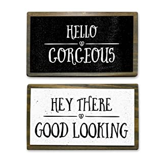 ANVEVO Hello Gorgeous, Hey There Good Looking - Two 6