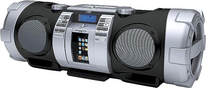 Jvc Rv Nb 50 Stereo Radio Rekorder Cd Mp3 Player Ukw Tuner 40 Watt Apple Ipod Dock Usb 2 0 Schwarz Silber Audio Hifi