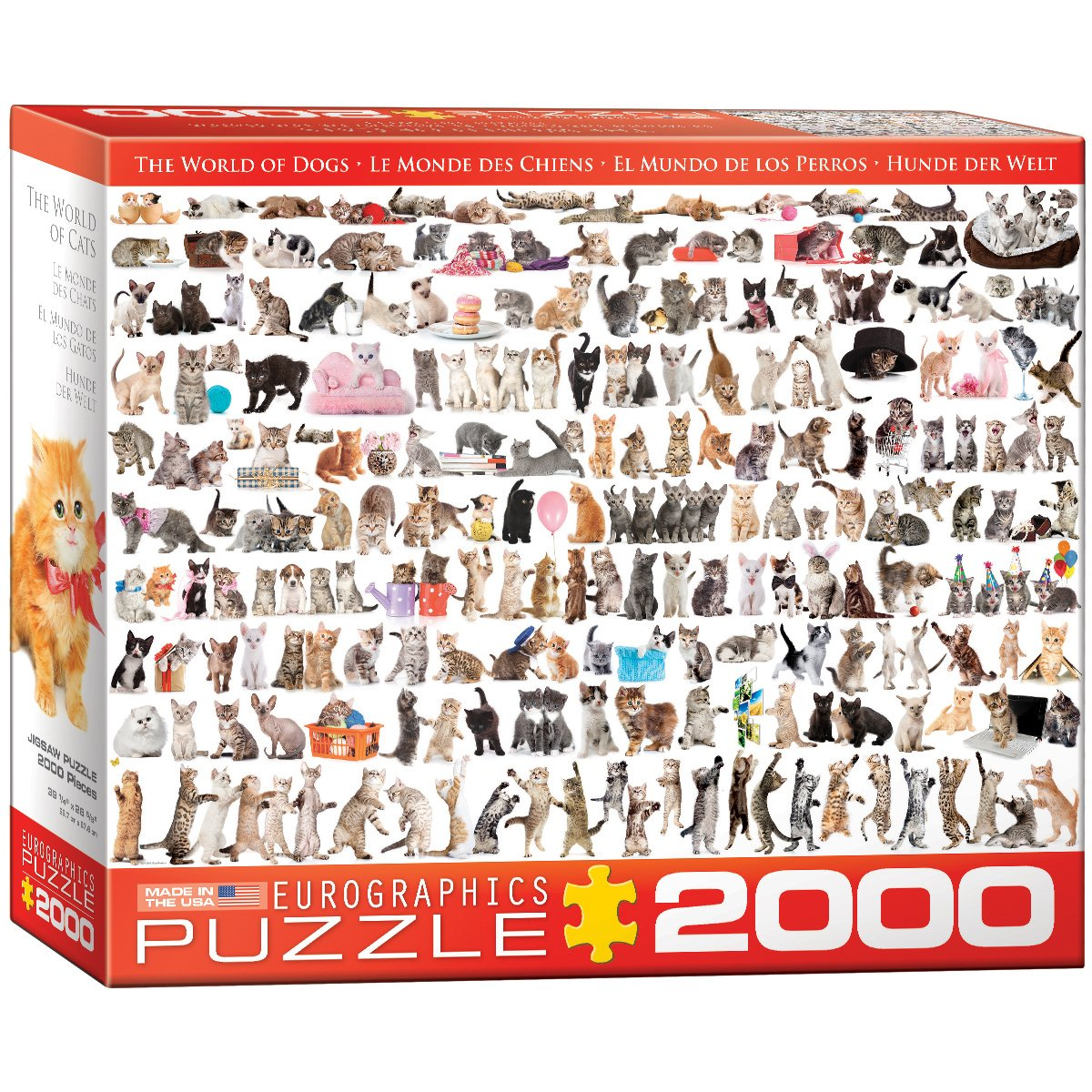 EuroGraphics The World of Cats Puzzle (2000-Piece)