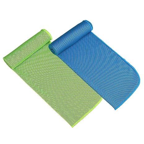 Paquete de 2 toallas de enfriamiento para deportes, entrenamiento, gimnasio, yoga, pilates