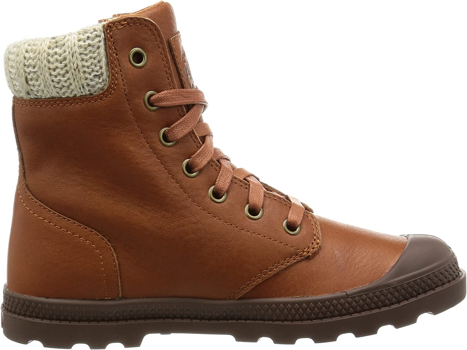 Palladium Boots Womens Pampa Hi Knit LP Chukka Boot Brown Mocha Bisque