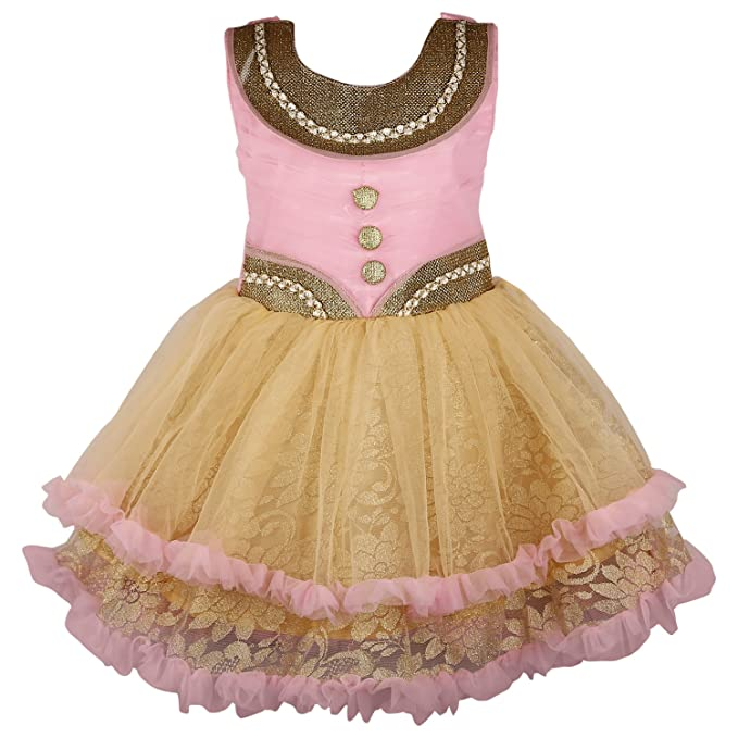 24dc95f44 Wish Karo Baby Girls Net Partywear Frock Dress - (fr069nw)  Amazon ...