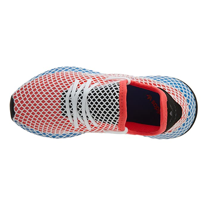 d1813e2a3 adidas Kids Originals DEERUPT Runner Shoes Solar Red Blue Bird  Amazon.co.uk   Shoes   Bags