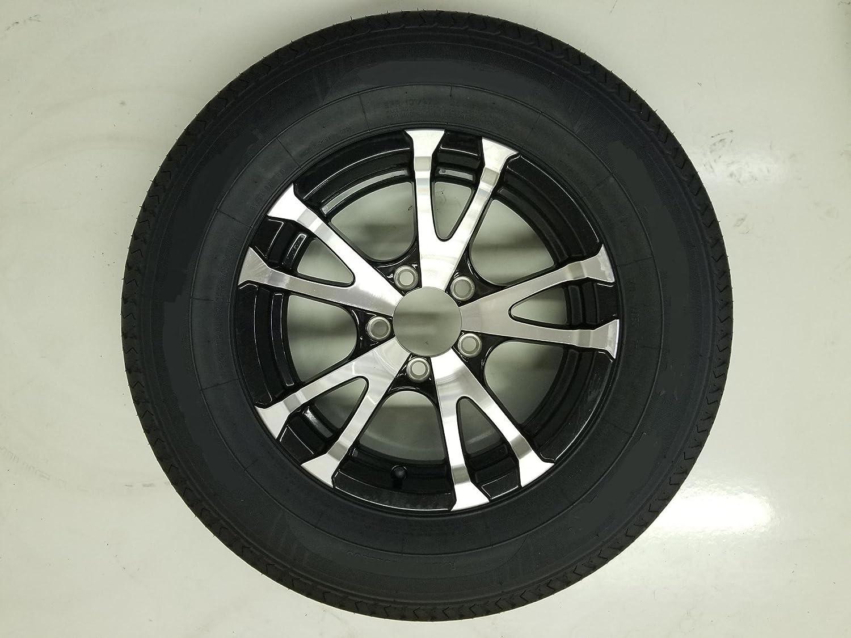eCustomRim Radial Trailer Tire On Rim ST205/75R15 15 in. LRC 5 Lug Aluminum Avalanche Black