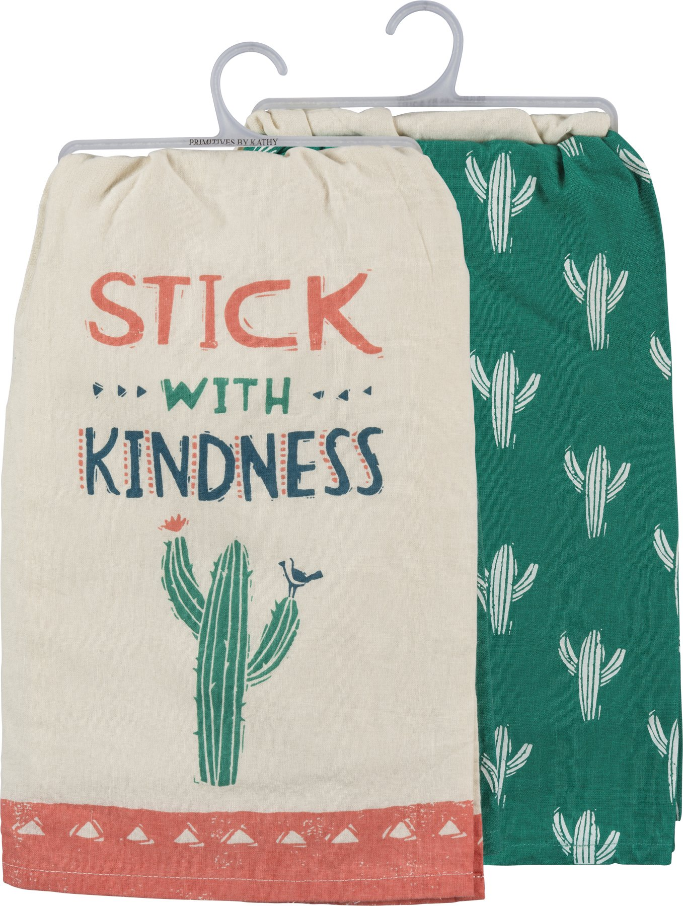 Primitive by Kathy Dish Towel Set - Stick with Kindness