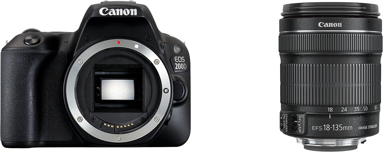 Canon EOS 200D + EF-S 18-135/F3.5-5.6 IS STM Juego de cámara SLR ...