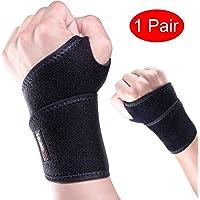Youngdo Handgelenkbandage Set/Handgelenkschoner/Handgelenkstütze für Karpaltunnelsyndrom Kraftsport, Alltag Fitness (L/XL (18-28 cm))