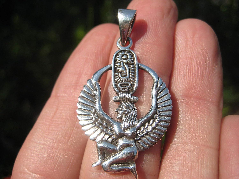Himalayan Treasures D/éesse /égyptienne Atum Ra Enhead dH/éliopoli en Argent Massif 925
