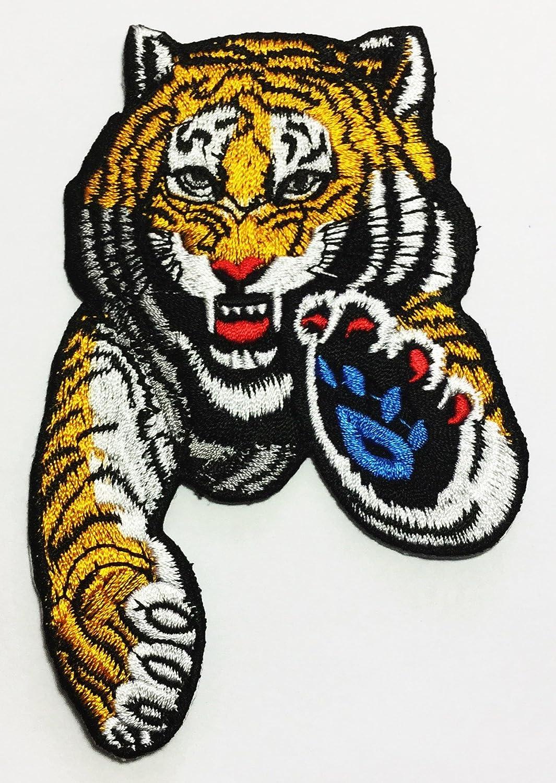 Tiger Attack DIY Applique bordado coser hierro en parche P # 112 ...