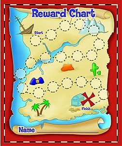 Eureka Back to School Treasure Hunt Mini Reward Charts for Kids with Stickers, 736pc, 5'' W x 6'' H