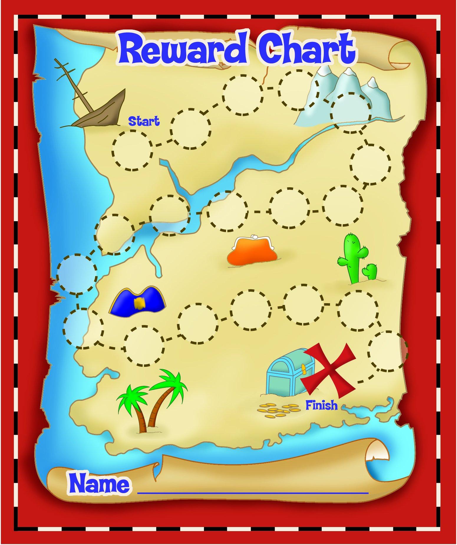 Eureka island Treasure Hunt Mini Reward Charts with Stickers, Package of 36