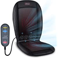 Snailax Heated Car Seat Cushion - Heated Seat Cushion with 2 Levels 2 Heating Pads,Car Seat Warmer with 3 Car Fan Speeds, Car Seat Heating Pad, 12V Automotive Air Conditioned Seat Cover