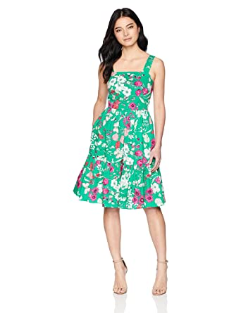 3cfb76565c5 Amazon.com  Eliza J Women s Floral Sleeveless Fit and Flare Dress  Clothing