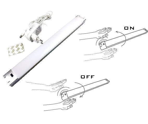 Blanco frío 6000K Mano-Ola activado Gabinete Dimmable Armario Luz de tubo LED PIR LED