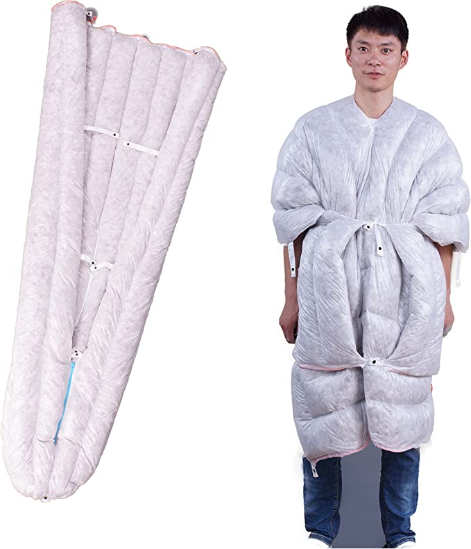 WIND HARD Wearable Goose Down Sleeping Bag - The Best Wearable Sleeping Bag/Backpack Quilt