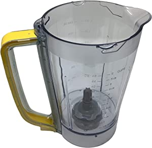 Ninja 48oz Pitcher Bowl for BL206 BL207 BL250 700w Extreme Kitchen System Pulse Blender, Yellow