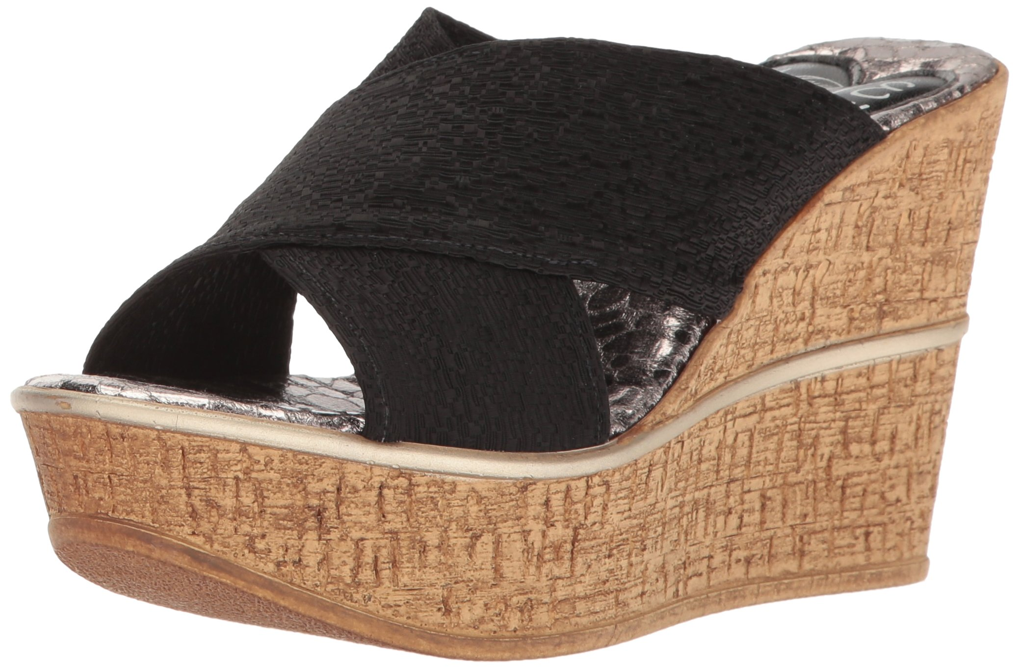 Love & Liberty Women's Ruth-LL Wedge Sandal, Black, 8 M US