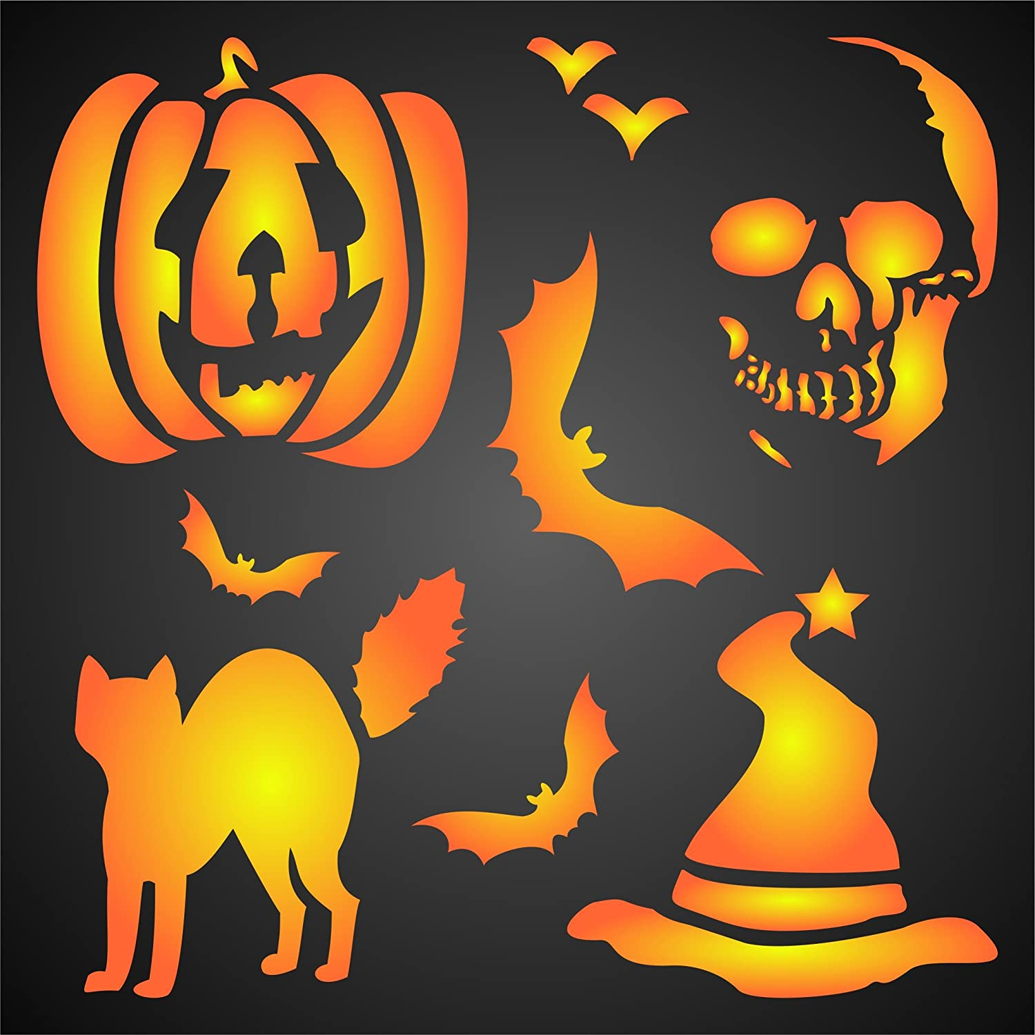 Amazon.com: HALLOWEEN DECOR STENCIL (size 7\