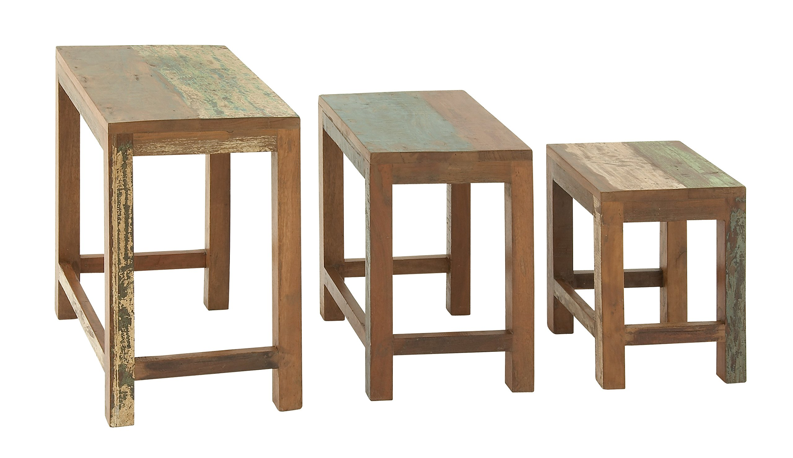 Deco 79 23523 Wood Nesting Table (Set of 3), 20''/17''/14'' H