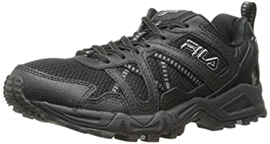 4fdf87a543 Fila Men's Ascente 15 Trail Running Shoe, Black/Black/Metallic Silver, 9.5