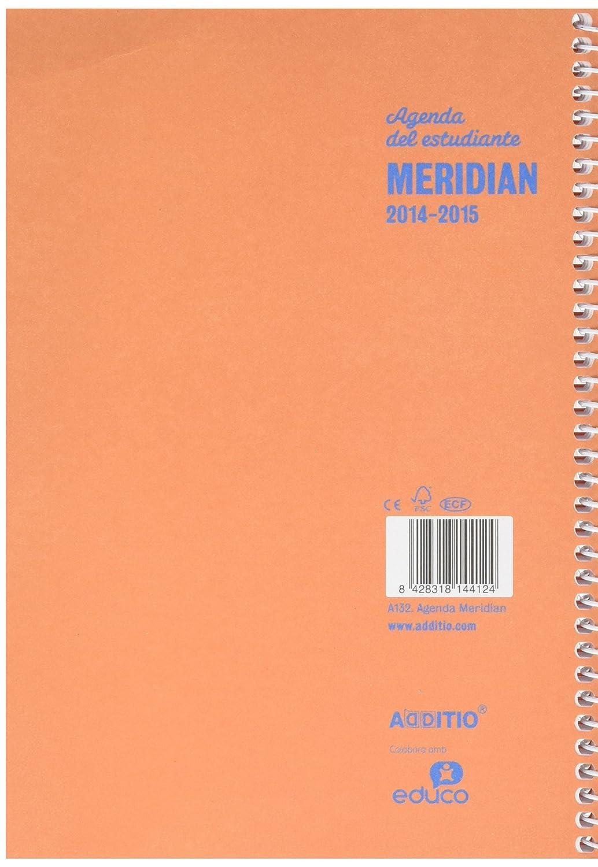 Amazon.com : ADT A132 Agenda Meridian A5 SV Spanish : Office ...
