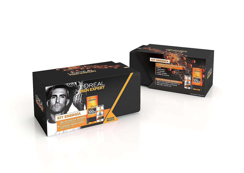 LOréal Men Expert Kit Energía, incluye Neceser, Gel de Ducha Hydra Energetic Taurina 300 ml y Crema Hidratante Anti-Fatiga Hydra Energetic 50 ml: Amazon.es
