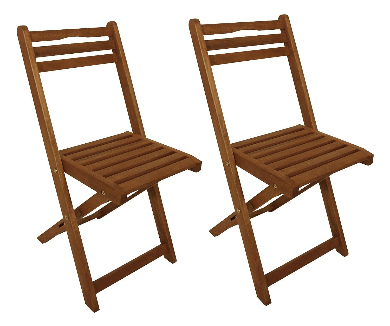 Amazon.de: 2x Holz Klappstuhl, Eukalyptus geölt, FSC®-zertifiziert