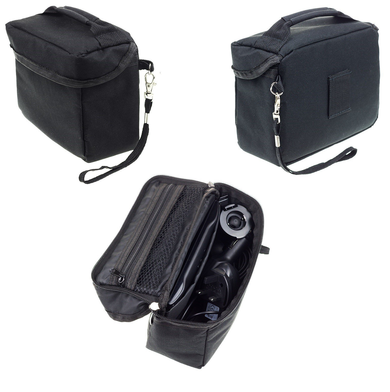 Travel Bag Carrying Case For Garmin Drive DriveSmart DriveAssist 51 50 40 DEZL 580 Nuvi 57 Zumo 396 TomTom Via 1425 1524 1525 M TM Go 52 Rider 550 500 Trucker 550 GPS Sat Nav With Accessory Storage
