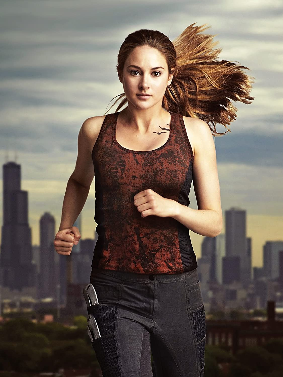 Amazon Com Divergent 2014 12x18 Movie Poster Thick Shailene Woodley Kate Winslet Theo James Posters Prints
